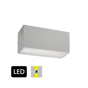Norlys Asker Aluminium Op/Ned Væglampe m. LED modul