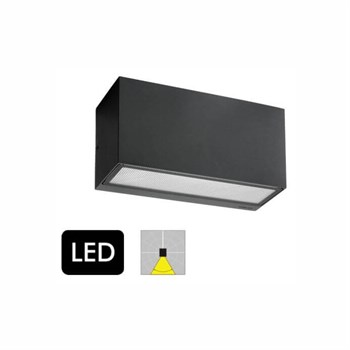 Norlys Asker 1726 Grafit Down Light Væglampe med LED-modul